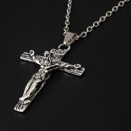 Discount inri crucifix pendant - New Cross INRI Crucifix Jesus Piece Pendant & Necklace Stainless Steel Men Chain Christian Jewelry Gifts Vintage
