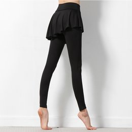 Wholesale JIGERJOGER Very new Plus size XL Skorts pants skirted leggings Black gym running dance fitness tights nylon Polyamide pants