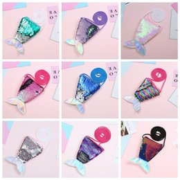 quality fashion accessories Australia - Fashion New Baby Children Girls PU Sequin Fishtail Shape Bag 6 Colors Fashion Convenient High Quality Shoulder Messenger Bag