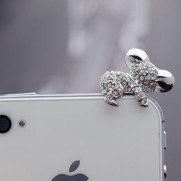 Cute Gadget Australia - Glass resin Earphone Anti Dust plug for iPhone 6S Plus Mini jack 3.5mm Cute Koala cover For iPhone SE Samsung gadget Accessories