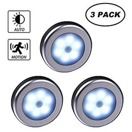 $enCountryForm.capitalKeyWord Australia - WRalwaysLX Wireless Motion Sensor LED Cabinet Light Stick-Anywhere Nightlight for Stairs Hallway,Closet,Bedroom,Cupboard (Silver Shell 3pcs)