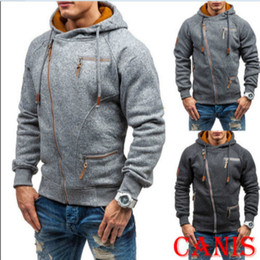 Wholesale hoodies sweatshirt tops outerwear resale online - Fashion Autumn Spring Men Hoodie Sweatshirt Long Sleeve Tops Shirt Sweatshirts Pullover Sweatshirt Male Coats Outerwear zipper