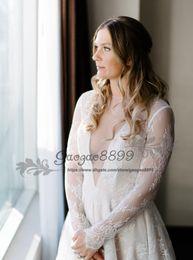 $enCountryForm.capitalKeyWord NZ - 2019 New designer full French lace beach boho wedding dresses backless garden open back V neck country long sleeves bridal wedding gowns