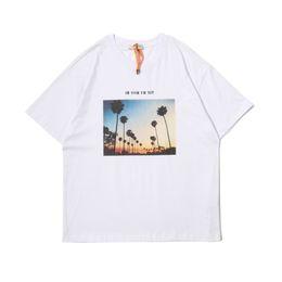 c1e404215c64 NOM UH NIT PHOTO GRAPHIC PRINT TEE 19SS Strange Story Palm Tree Printed  Cotton Round Neck T-Shirt Men's Top