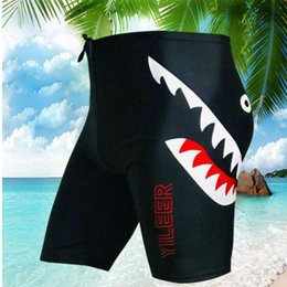 e77b3a221d Men Swimwear Tight Shark Swim Trunks Plus Size Quick Dry Pool Swimming  Shorts Competition Swimsuit for Men Boys Swimwear Pants Free Shipping
