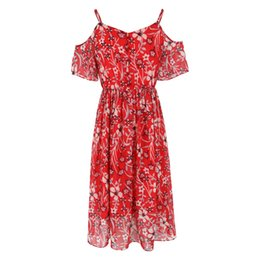 $enCountryForm.capitalKeyWord UK - 2019 summer fashion Europe and the United States strapless lotus leaf sleeves dress sexy print chiffon casual dress