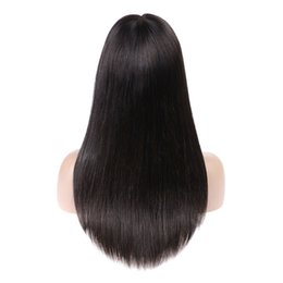 $enCountryForm.capitalKeyWord NZ - Brazilian Hair Wigs 4x4 Middle Part Lace Closure Front 8-18inch Lace Front Wig 8A Brazilian Straight Remy Hair Pre Plucked Natural Color
