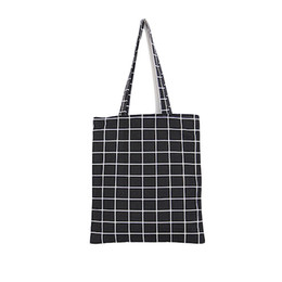 Canvas Cheap Tote Bag NZ - Cheap FashionFashion Female Canvas Beach Bag Plaid Casual Tote Women Canvas Handbag Daily Use Single Shoulder Shopping Bags