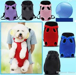$enCountryForm.capitalKeyWord Australia - Pet Backpack Adjustable Shoulder Strap Dog Travel Bag Dog Bag Mesh Cloth Chest Pack Pet product accessories Portable dc294