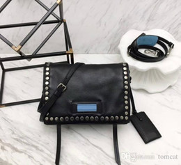 $enCountryForm.capitalKeyWord NZ - New casual style the imported head calfskin genuine leather L23cm hand-made rivets seven colors high quality women cross-body shoulder bag