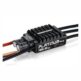 China Original Hobbywing Platinum OPTO HV V3 100A 5-12S Lipo No BEC Speed Controller Brushless ESC for RC Drone Helicopter suppliers