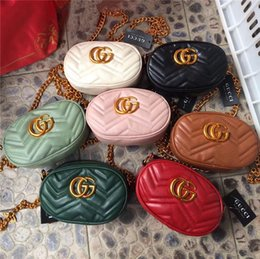 Princess chest online shopping - Retails Girls Fanny Packs Mommy And Me Matching Waist Bags Chest Packages Fashion Classic PU Chain Princess Purses Cross body Bags Gifts