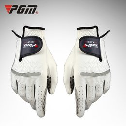 $enCountryForm.capitalKeyWord Australia - 1PCS PGM Men's Leather Sheep Skin Soft Golf Gloves Left Right Hand particles Breathable Sports Grip Anti-skidding Mittens
