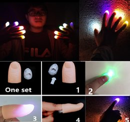 $enCountryForm.capitalKeyWord Australia - Thumbs Led Light up Toys Kids Magic Trick Props Funny Flashing Fingers Fantastic Glow Toys Children Luminous Gifts Holiday Party Finger CY32