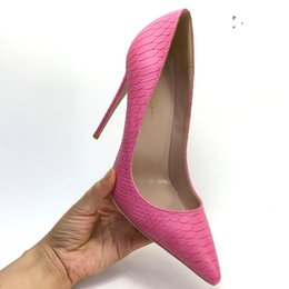 shoes python UK - 2019 free shipping fashion women lady Rose red python snake Leather Poined Toes high HEELED heels shoes Stiletto Heel shoes pump 12cm 10cm