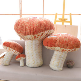 $enCountryForm.capitalKeyWord NZ - 20cm Realistic Kids Mushroom Plush Toy Baby Vegetable Doll Children picking Birthday Gift Home Shop Decor Pillow Cushion