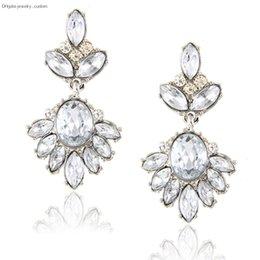 $enCountryForm.capitalKeyWord Australia - New Fashion Women's Drop Earring Hot Sale Fashion Jewelry Trend Crystal Earrings Clear Glass Earrings Vintage Declaration E0244