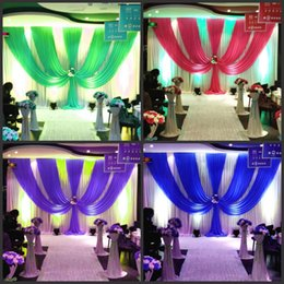 Ice Party Decorations Australia - 3*6m (10ft*20ft) Wedding Curtain Backdrops with dense Sequins Swag High Quality Ice Silk Material Wedding Party Stage Decoration valance