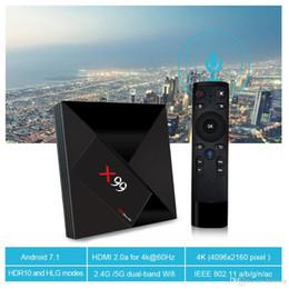 Six tv online shopping - X99 GB GB Google Voice Remote Control Smart Android TV Box RK3399 Six Core K WiFi M LAN BT4 Media Player