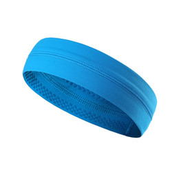 Headband Turban Sport UK - Sports Gym Headbands Mens Women Cycling Running Headband Bicycle Turban Yoga Anti Sweat Band Head Solid Stretchable Bandanas TN #530724
