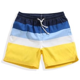 138f494d43ced 2018 Swim Short Men Beach Shorts Quick Dry Sea Swimwear For Male Summer  Striped Swimming Board Swimsuit Surfing