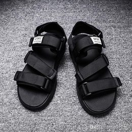 c strap men UK - HOT SALE European Brand designer Sandalsmen Summer Sandals black white BLUE Anti-slipping Quick-drying Outdoor slippers Soft Water Shoe