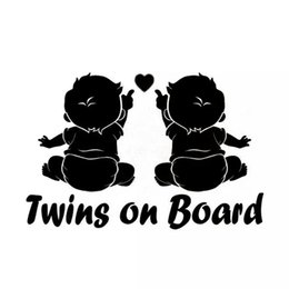baby board window stickers NZ - Car Vehicle Products Twins Baby On Board Car Sticker Decals For Automotive Vinyl Stickers CA-584