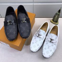 47cdd3b72 Newast Luxury дизайнер модной мужской обуви с принтом кожаные плоские  формальные туфли на металлической кнопке Peas повседневная обувь кроссовки  высокого ...