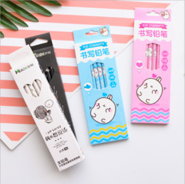 wholesale children stationery set Australia - 4 12 pcs Pencil Wooden Pencils Children Creative student school supplies stationery novelty cute girl Hello Kitty 6 7 years