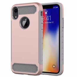 $enCountryForm.capitalKeyWord NZ - Hybrid Dual Layer Carbon Fiber Armor Case For iPhone XR XS Max XS X 8 8 Plus 7 7Plus 6 6S Plus Huawei