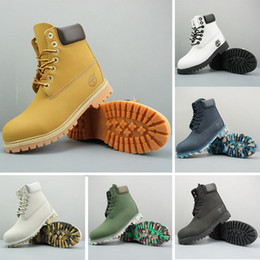 Genuine leather boots online shopping - Designer Timberland Boots for Mens Womens Military Boots Chestnut Triple Black White Camo Boot Drop Shipping