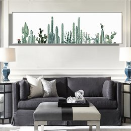 $enCountryForm.capitalKeyWord Australia - HD printed nordic canvas painting green plants picture Cactus Poster long modern decorative wall art for living room