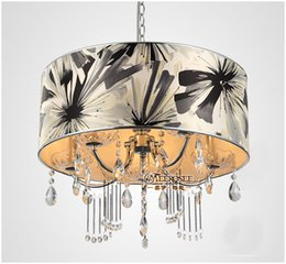 chandelier crystal lampshades 2020 - New arrival Crystal Pendant Light Hanging Lamp Lustres Lighting fixture Modern Chandelier lighting with lampshade for Di