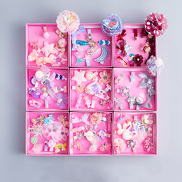 $enCountryForm.capitalKeyWord Canada - hairpin set children 10 pieces cute princess crown gift box set hairdressing baby High Quality Ring Rope wholesale