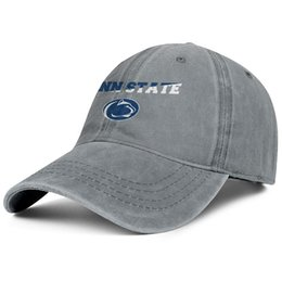 the latest b9ca5 9e9a0 Penn State Nittany Lions football logo Mesh Cowboy hat mens guys snapback  hat printed adjustable women s summer cap youth baseball cap mesh