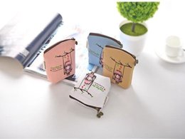 Character Stationery Australia - New Lovely Women Canvas Wallet Purse Coin Purse Card Holder Small Zip Clutch Students Stationery Oragainizer Bags