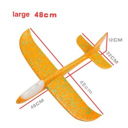 hand gliders NZ - New Children 48cm LED light Glider Airplane Toys Baby Boy Girl Hand Foam Throwing Inertia Aircraft Toy Hand Launch Mini Airplane