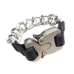 $enCountryForm.capitalKeyWord Australia - 2018 ALYX STUDIO LOGO Metal Chain Bracelet Men Women Hip Hop Outdoor Street Accessories Festival Gift HFTTPJ001