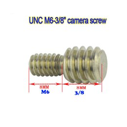 quick tripod UK - 10pcs M6 & 3 8 inch UNC Adapter Camera Screw for Tripods Ball Head and Quick Welease Plate