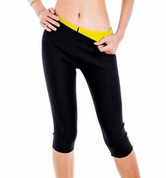Wholesale Womens Slimming Pants Hot Thermo Body Shaper Neoprene Slimming Capri Pants Thighs Fat Burner Sauna Suit Waist Tummy Control Slim Panties