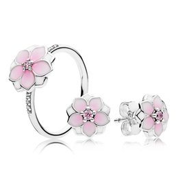 $enCountryForm.capitalKeyWord Canada - 100% 925 Sterling Silver Magnolia Bloom Ring And Gift Set Charms Rings Fit DIY Original Jewelry A set of prices