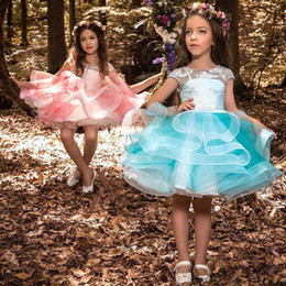 $enCountryForm.capitalKeyWord Australia - Blush Pink Girls Pageant Dresses 2019 Ball Gowns Cascading Ruffles Unique Designer Child Glitz Flower Girls Gowns for Wedding