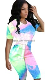 $enCountryForm.capitalKeyWord UK - cham Tie-dyed Two Pieces Set Womens tracksuit Women Clothing 2 PCS women sportwear 4 color 3112