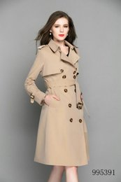 Double Shirt Designs Australia - High women long trench coat jacket apricot Double Breasted Coat Jackets Trench Coats Evening Wear Dresses Blouses Shirts T-shirts