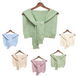 Wholesale Kids Fashion Small Shawl Clothes Baby Cotton Solid Color Cape Winter Clothes Children Autumn Winter Coat Shawl Scarf TTA1774