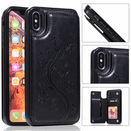 Wholesale For iPhone Xs Max Xr S10 Lite Plus Wallet Cases Luxury PU Leather Cell Phone Back Cases Covers with Credit Card Slots