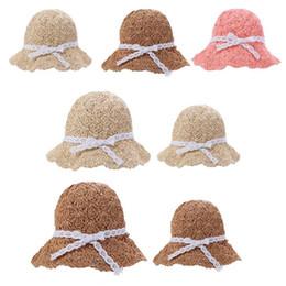 $enCountryForm.capitalKeyWord UK - Chic Summer Kids Floral Decor Straw Hats Children Beach Baby Girls Sunhat Parent-child Fashionable Handmade Casual Foldable Cap