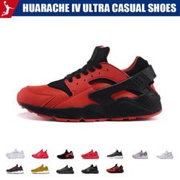 mens casual tennis shoes UK - Huarache IV Ultra Casual shoes for mens womens Huraches Multicolor Knit Running shoes Triple Casual Shoes