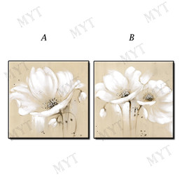$enCountryForm.capitalKeyWord Australia - Abstract yellow black white flowers oil painting wall art picture home decor Hand-painted landscape on canvas for living room no framed