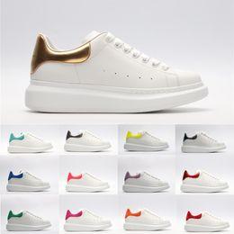 $enCountryForm.capitalKeyWord Australia - Top 2019 Quality White Black Leather Casual Shoes For Men Women Platform Sneakers Ladies Girls Fashion Luxury Flat Dress Shoes